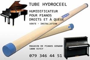 Hydroceel, système humidificateur pour piano à queue ou droits