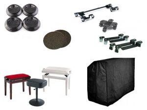 Accessoires piano centre genand, housses, roulettes, sièges, coupelles
