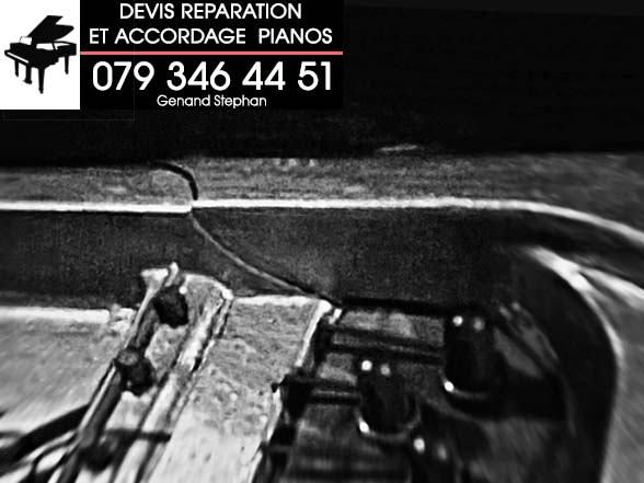 Accordage non professionnel - Fissure dans un cadre de piano