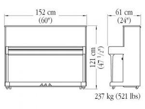 Caractéristiques du piano Yamaha modèle B3