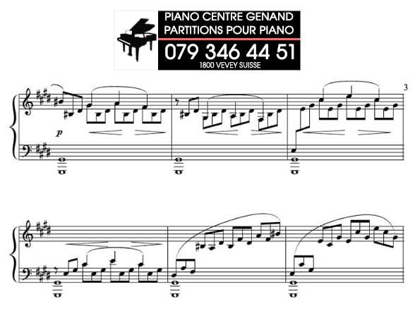 Partition pour élève pianiste débutant