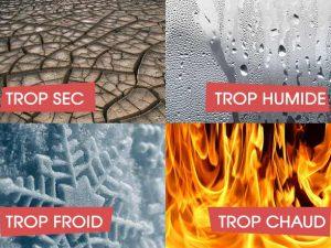 Piano désaccordé - Réglage température-humidité