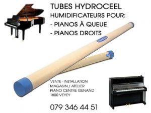 Tubes Hydroceel - Système humidificateur pour le piano